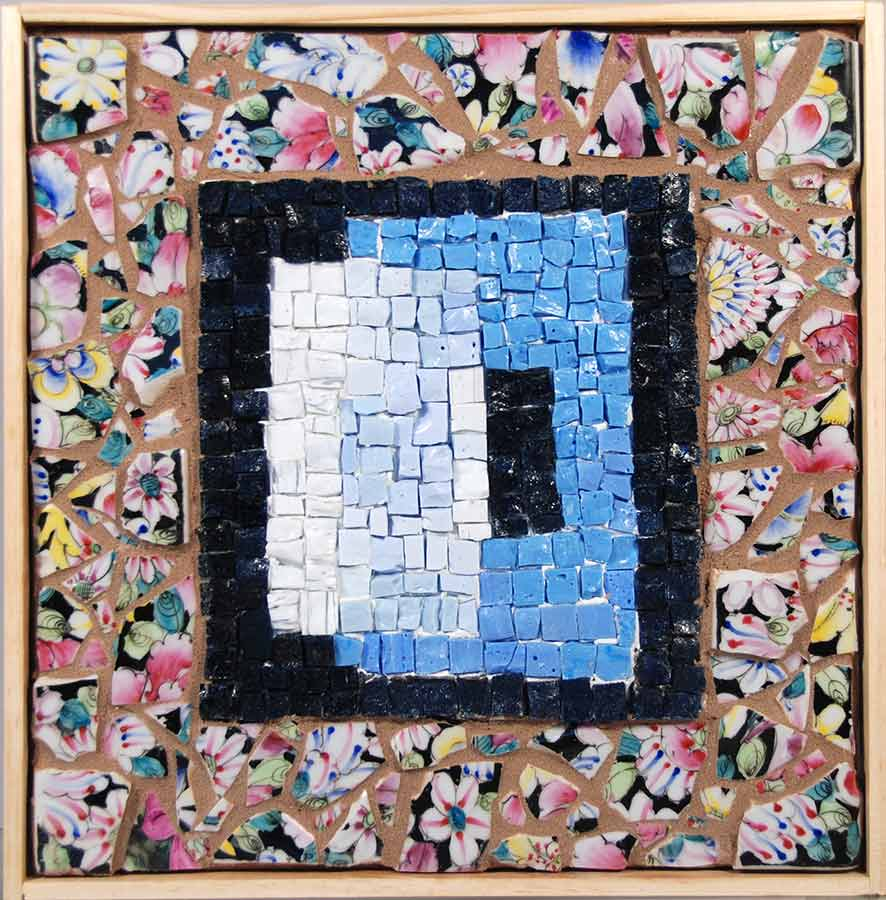 Mosaic art wall hanging jewelry luminaries picture frames by eclipsing 2 hand made mosaics size 10 12 x 11 price 16900 mosaics as wall art jeuxipadfo Images