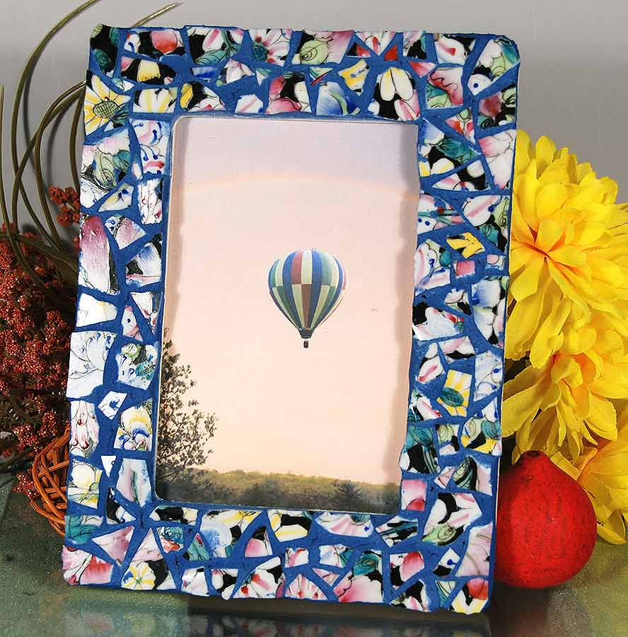 mosaic art wall hanging jewelry luminaries picture frames by mosaic frame no11 hand made pique assiette - Mosaic Picture Frames